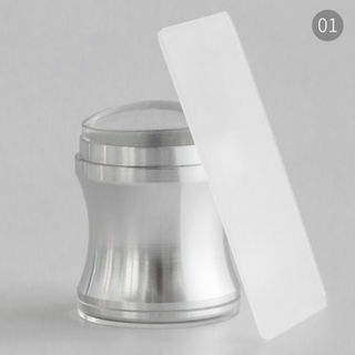 Clear Jelly Stamper Jumbo - Silver